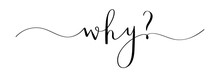 WHY? Brush Calligraphy Banner