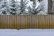 Wooden Fence By The Village House.