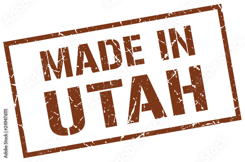Photo made in Utah stamp