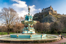 Ross Fountain With Edinburgh C...