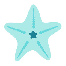 Star Fish Vector Icon Illustration