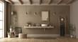canvas print picture Minimalist bathroom with washbasin