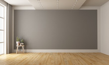 Empty Minimalist Room With Gra...