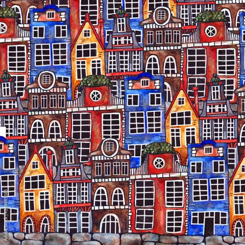 amsterdam-akwareli-domow-bezszwowy-wzor