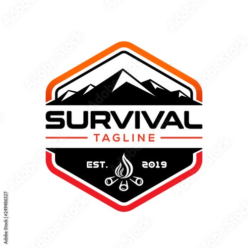 Photo Survival design logo template