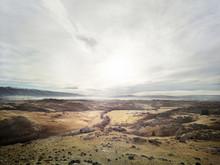 Desert Rocky Landscape In New Zealand
