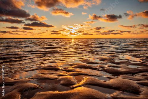 Canvas Prints North Sea Sonnenuntergang an der Nordsee