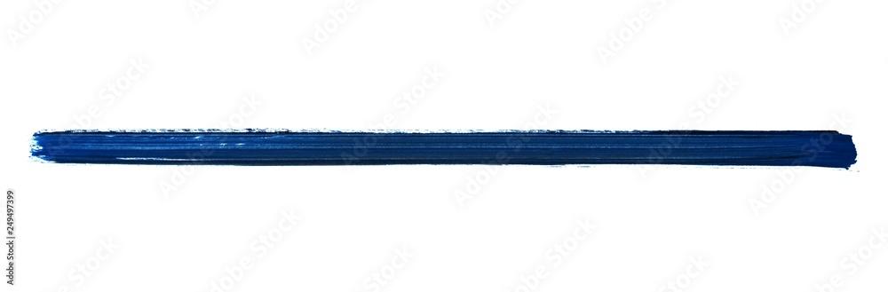 Fototapety, obrazy: Langer blauer Streifen gemalt mit einem Pinsel