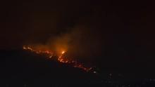 La Tuna Fire Los Angeles California Night Timelapse Close