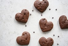 Homemade Heart Shaped Brownies...