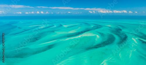 Aerial view, Eleuthera, Bahamas, America Wallpaper Mural