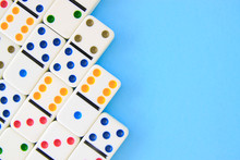 White Dominoes With Brightly C...
