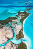 Aerial view, Exuma, Bahamas, America