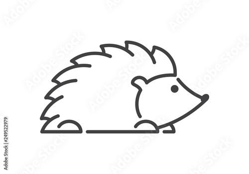 Fotografía Modern vector line figure hedgehog. Open path