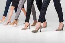 Cropped View Of Women Walking ...