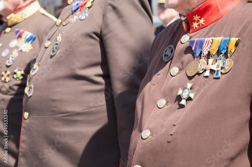 Fotografía  medals on the uniform