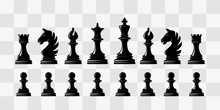Chess Piece Icons. Board Game....