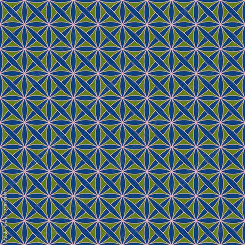 bezszwowy-wzor-z-stylizowanym-celtyckim-geometrycznym-ornamentem-w-zielonych-blekitnych-i-rozowych-kolorach-wektor