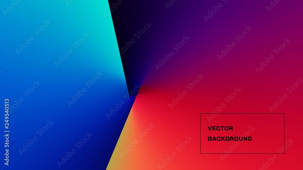 Fototapety, obrazy: Abstract Colorful Light and Shade Texture with Angle Gradient Effect. Aspect Ratio 16:9. EPS 10 Vector.