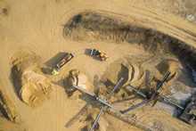 Aerial View Of Sandpit And Fac...