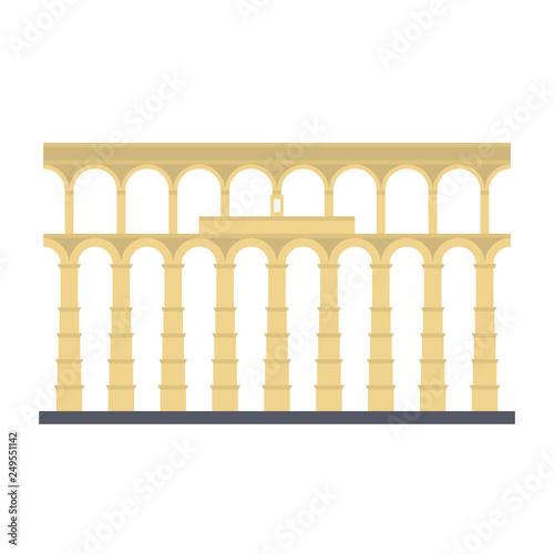 Carta da parati Aqueduct of Segovia, Spain, vector icon