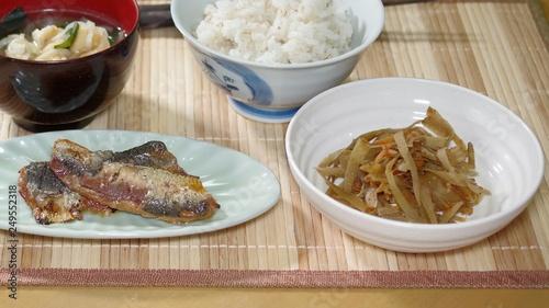 Fotografie, Obraz  質素な食事