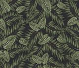 wzór z zielonymi liśćmi - 249556171