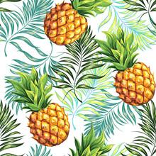 Pineapple. Seamless Pattern. V...