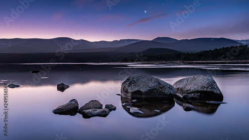 Sunrise at Loch Morlich, Scotland Wallpaper Mural
