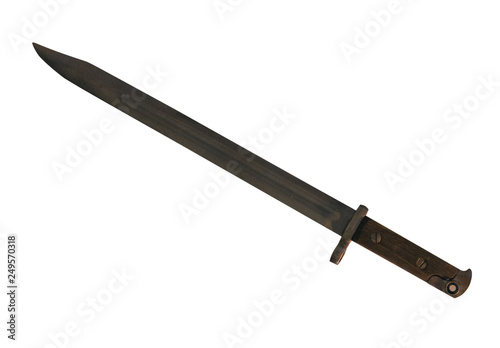 Obraz na plátně bayonet knife isolated on white background