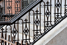 Wrought Iron Handrail And Gran...