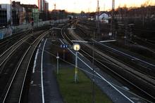 Ein Bahnhof Am Abend