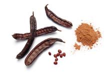 Carob Bean Pods, Seeds And Pow...