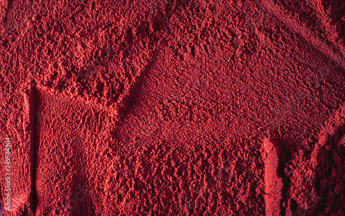 Fotografie, Obraz  red powder beauty makeup compound texture pattern