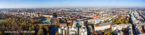 Foto auf Leinwand Stockholm Drone view on Stockholm, Sweden