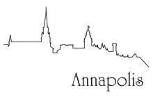 Annapolis City One Line Drawin...
