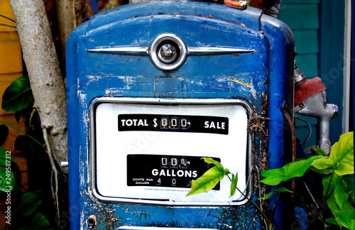 Fotografie, Obraz  Antique Gas Pump