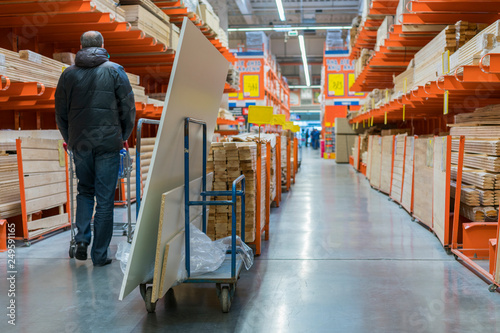 A man in a hardware store Canvas Print