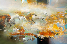 Modern Painting With Horses