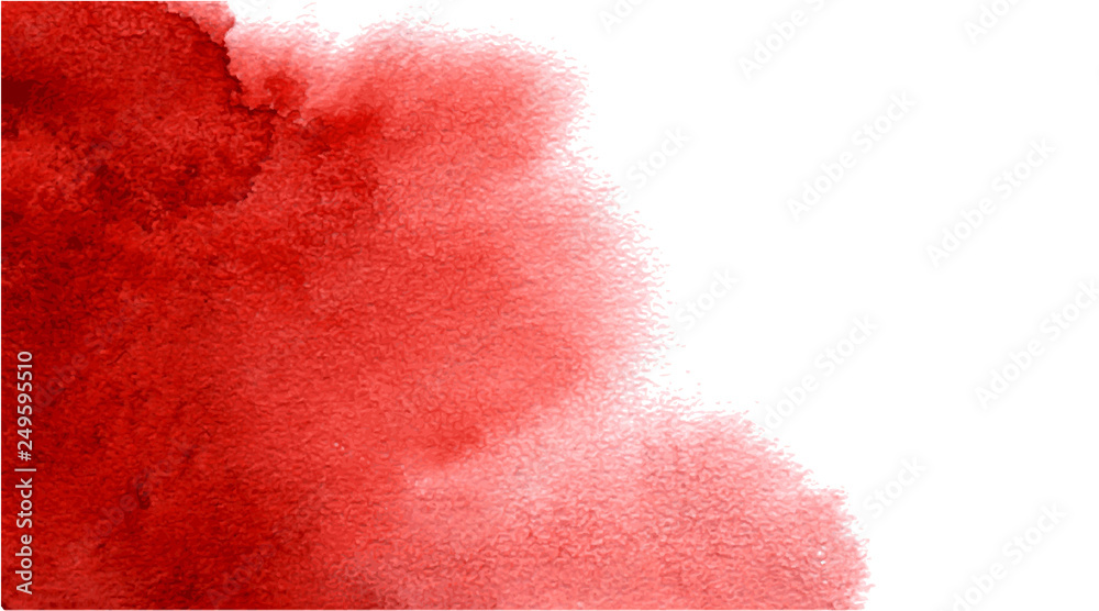 Fototapety, obrazy: Abstract watercolor red background for your design.