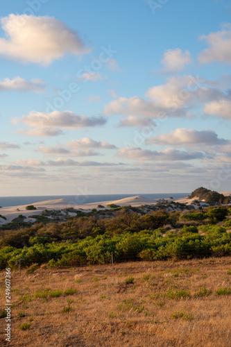 Foto auf Leinwand Toskana Coast landscape during sunset in Geraldton Western Australia