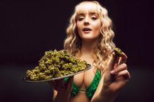 Blonde Caucasian Woman In Cann...