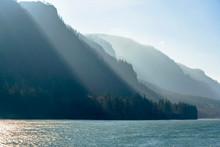Mountain Range Illuminated By ...