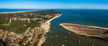 Aerial View, Fishing Village A...