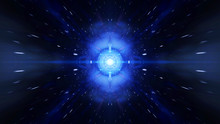 Time Vortex Tunnel Background.Wormhole Though Time And Space.Seamless Loop Wormhole Straight Through Time And Space, Warp Straight Ahead Through This Science Fiction