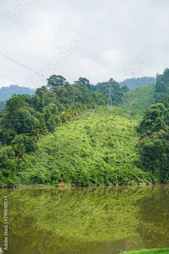 Lake dam water reservoir for hydroelectric power generation - Image © Ikhwan