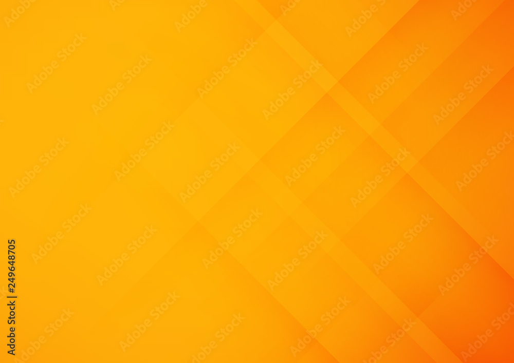 Fototapeta Abstract orange geometric vector background, can be used for cover design, poster, advertising