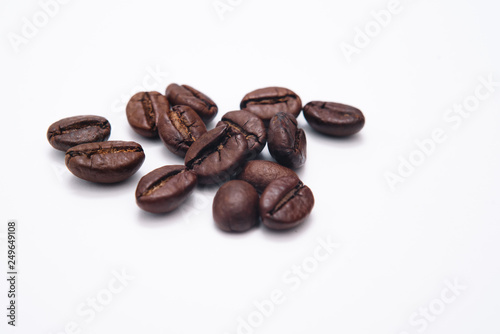 Deurstickers koffiebar Coffee beans. Isolated on white background
