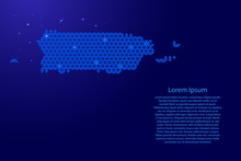 Puerto Rico Map Abstract Schem...