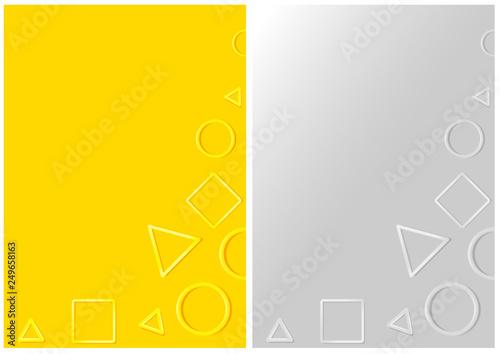 Different 3D Plastic Geometric Shapes on Backgrounds - Set